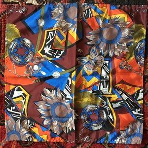 Beautiful multicolored silk pocket square